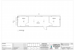 12.0m x 3.0m Office 3 6 3 Split Plan