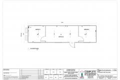 12.0m x 3.0m Office 3 6 3 Split Plan