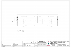 12.0m x 3.0m Office Split Plan