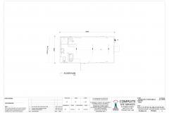 6.8m x 3.3m Office & Ablution Plan