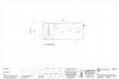 7.2m x 3.0m Office & Ablution Plan