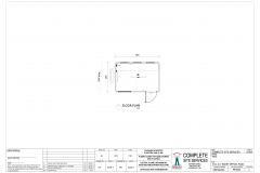 3.6m x 2.4m Ticket Office Plan